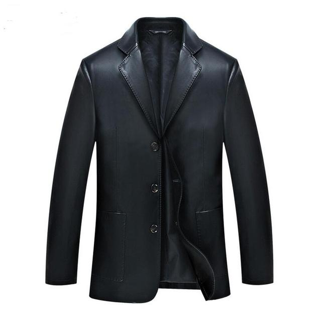 Moto Leather Jacket Winter Leather Jackets Mens Black Leather Jacket Coats Male Faux Leather Jackets Suit Collar Male Casual