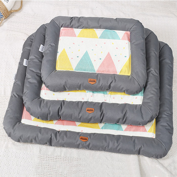 Dog Bed Patterns Soft Cool Sofa Mat House Cat Pet Cushion for Small Large Dogs Big Blanket Supplies Dog Products Pet Accessary 1