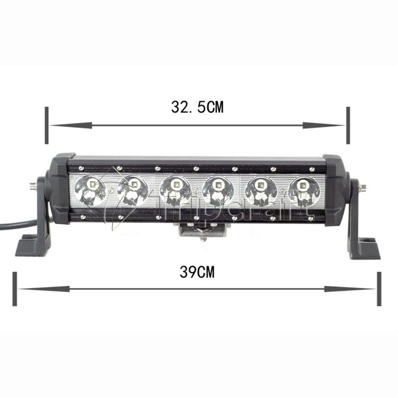 TRIPCRAFT Single Row LED Light Bar Offroad Driving Fog light 60w LED Work Light for 4x4 SUV UTE Truck ATV UTV Boat tractor tripcraft 4 6inch 40w led work light bar spot flood combo beam for offroad boat truck 4x4 atv uaz 4wd car fog lamp 12v 24v ramp