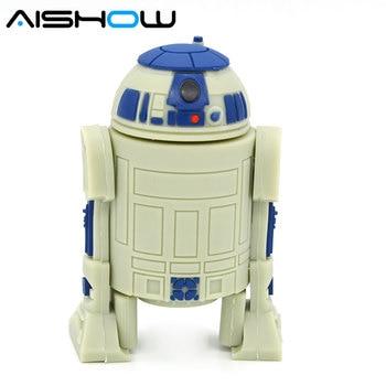 usb flash drives Memory Stick Star War Robot u disk External Storage Pendrives 64GB 32GB 16GB 8GB  usb 2.0 USB Flash Drives