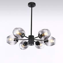 Modern Glass Chandelier Nordic Dining Room Kitchen Living Designer Lighting Luminaire Gold Black