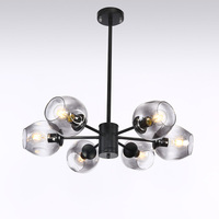 Modern Glass Chandelier Nordic Dining Room Kitchen Living Room Designer Lighting Luminaire Gold Black