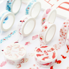 1 pcs/Lot Cute Washi Tape 15mm*7m Masking Tapes For Diary Album Decorative Scotch Tape DIY Washi Tape Set Stationery