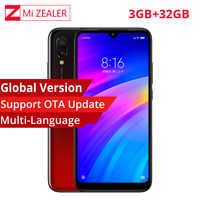 "En Stock Version mondiale Xiaomi Redmi 7 3GB + 32GB Snapdragon 632 Octa Core 4000mAh 6.26 ""19:9 plein écran 12MP + 2MP téléphone Mobile"