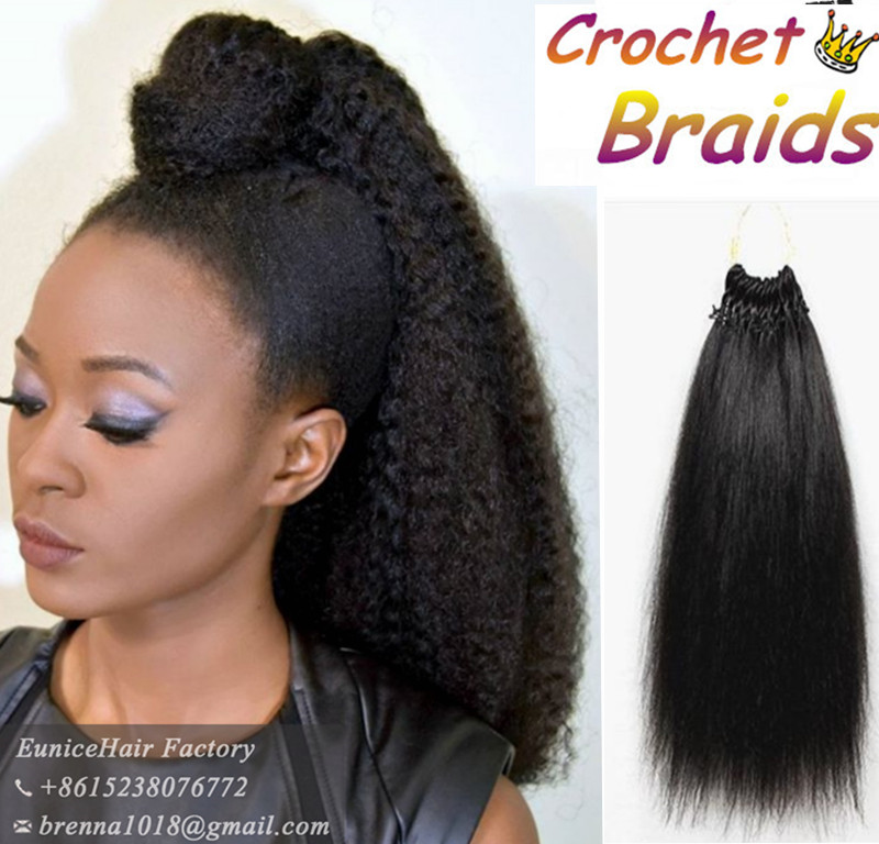 Best feeling human crochet braids hair pre braided crochet