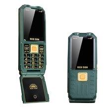 Batterie dalimentation téléphone portable à rabat 4 cartes sim SOS son fort mp3 bluetooth torche voix magique téléphones mobiles clavier russe téléphone