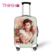 Thikin Mendes Shawn Travel Luggage Cover for Girls Cartoon School Trunk Suitcase Protective Bag Protector Jacket