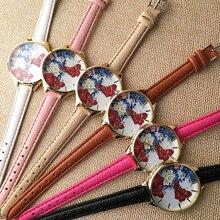 Dhl frete grátis 100 pçs/lote, decalques 3d artesanato de plástico maravilhoso wristwates butterfly & peônia assista coleção digna