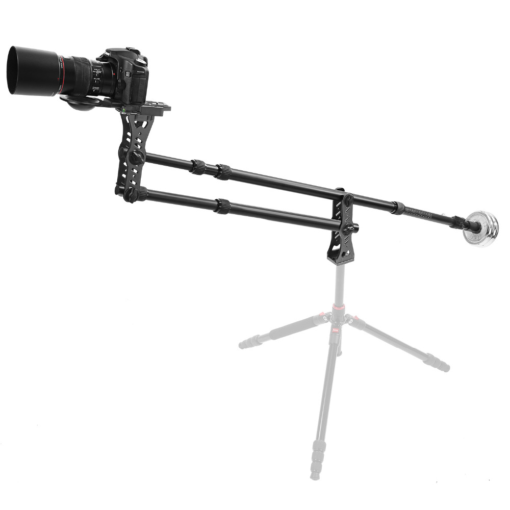 Neewer 70 inches/177cm Aluminum Alloy Jib Arm Camera Crane 360D Pan Ball Head Counter Weight 1/4 3/8-inch Quick Release Plate professional dv camera crane jib 3m 6m 19 ft square for video camera filming with 2 axis motorized head