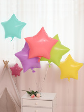 High Quality Candy Color Heart Star Helium Foil Balloons Macaroon Air Balls Baby Shower Birthday Wedding Party Decorations