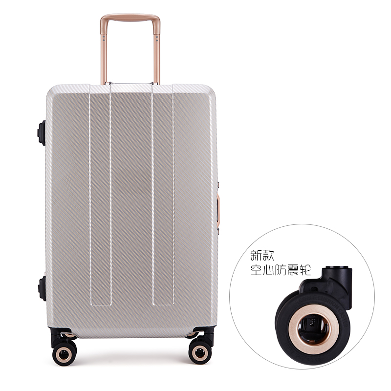 New arrival smart aluminum frame universal wheels trolley luggage travel bag luggage 28inch Reddot award design box