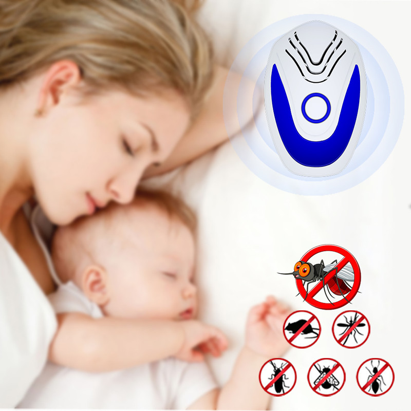 Ultrasonic Mice Repeller Electronic Ultrasound Mouse Control Fly Killer Anti Mosquito Repellent For Cockroach Bug Rat Rejection