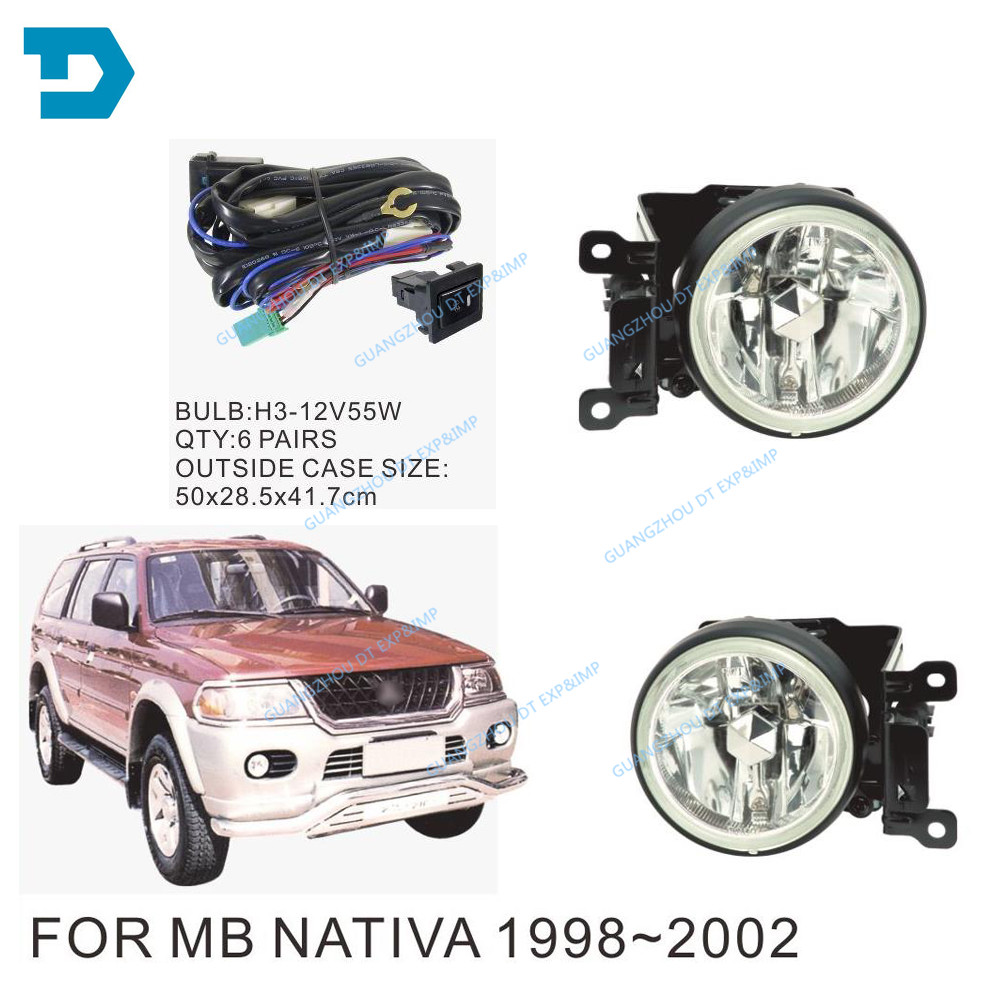 FOG LAMP FOR PAJERO SPORT HALOGEN FOG lamp FOR MONTERO SPORT CHALLENGER FRONT lamp CHOOSE THE VERSION YOU NEED window driver side main switch lhd for mitsubishi pajero montero iii 3 lancer triton l200 sport challenger grandis mr587942