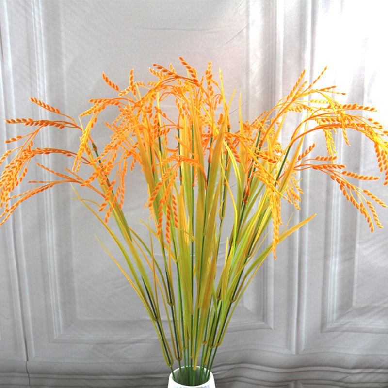 70cm Length Artificial Flower Simulation Yellow Paddy Rice Fake Plant Home Garden Party Decor Wedding Table Decoration 52827|Artificial & Dried Flowers| - AliExpress