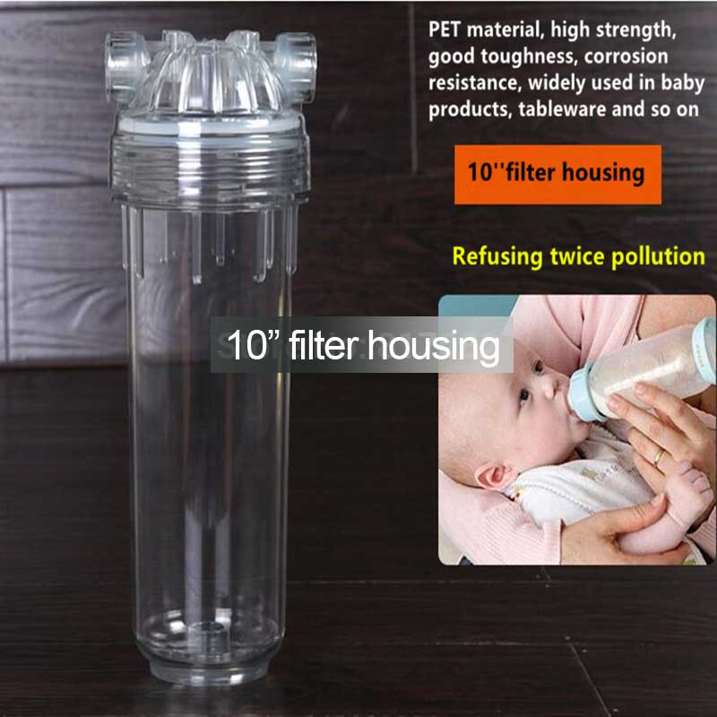10 Standard Thicken transparent filter housing bucket pre-filter filter bottle Water Filter Housing for Water eyki h5018 high quality leak proof bottle w filter strap gray 400ml