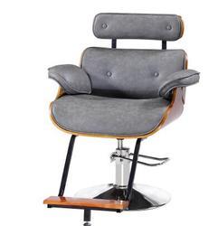 Retro kapsalon stoel wachten voor verven hot stoel kapsel stoel kapsalon hydraulische stoel master stoel afwerking.
