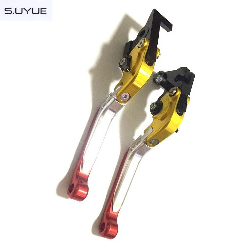ФОТО S.UYUE 7 colors CNC Adjustable Levers Brake Clutch Levers Motorcycle Foldable Extendable Levers For Honda CBR929RR 2000 2001