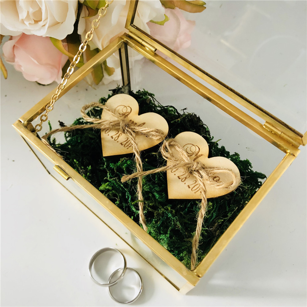 Glass-Ring-Box Gifts-Holder Personalized Jewelry-Box-Supplies Wedding-Glass Name