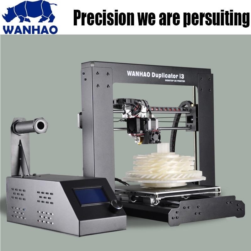 2017 plus récent WANHAO I3 V2.1 Aluminium Extrusion 3D imprimante kit imprimante 3d impression 1 rouleau Filament carte SD comme cadeau