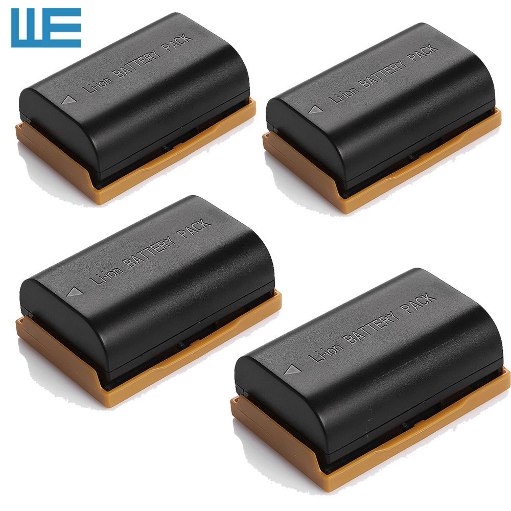 4pcs/Lot LP-E6 LPE6 LP-E6N LPE6N Battery For EOS 5D Mark IV, 5D Mark II,5D Mark III, 5DS, 5DS R, 7D, 7D Mark II, 60D, 70D, XC10.