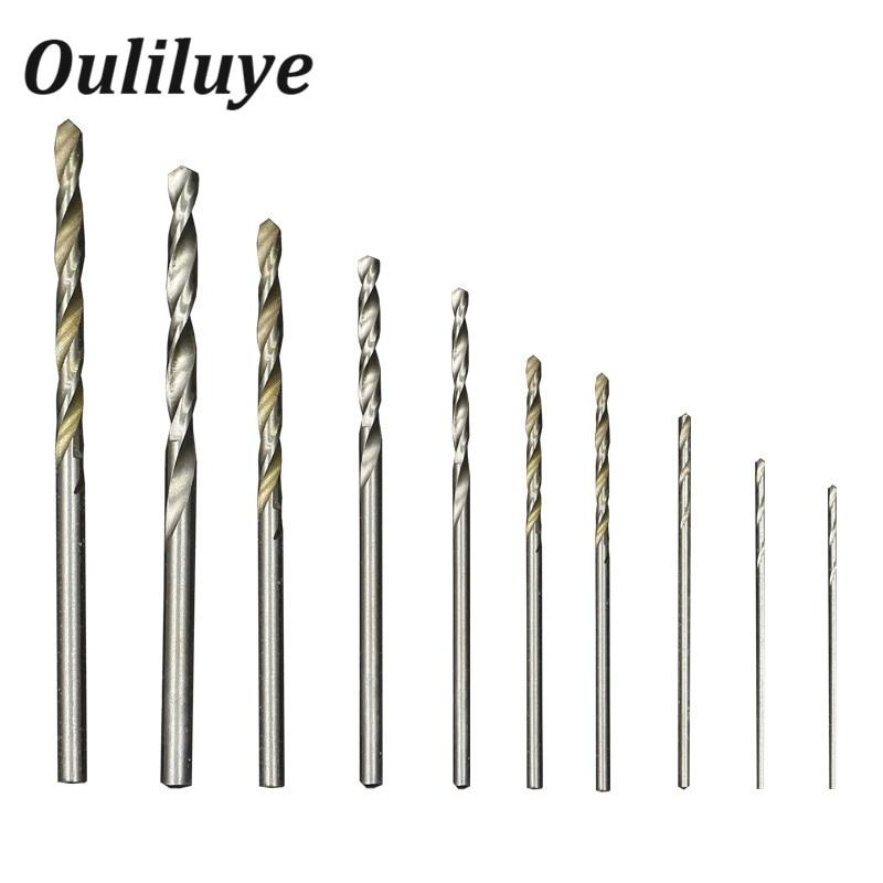 10PCS/Set Cobalt Straight Shank Twist Drill Bit Set 0.8-3mm Hss High Speed Electric Drill Bit Power Tools For Metal Wood Working