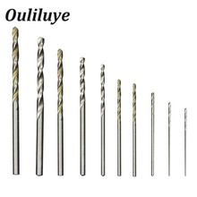 цена на 10PCS/Set Cobalt Straight Shank Twist Drill Bit Set 0.8-3mm Hss High Speed Electric Drill Bit Power Tools For Metal Wood Working