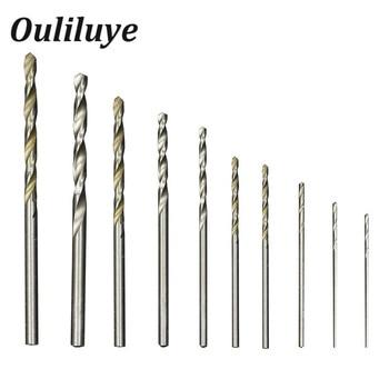 цена на 10PCS/Set Cobalt Straight Shank Twist Drill Bit Set 0.8-3mm Hss High Speed Electric Drill Bit Power Tools For Metal Wood Working