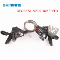 Shimano DEORE SL M590 9S 27S 9 Speed bike Shifter Lever Trigger MTB Bicycle Parts shifters with Cable one pair