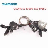Shimano DEORE SL M590 9 S 27 9 Скорость переключатель для велосипеда рычаг триггер MTB велосипеда Запчасти рычаги с кабелем одна пара
