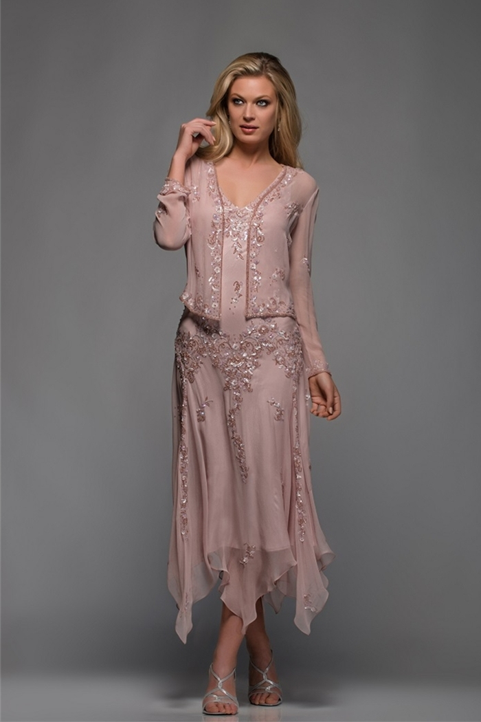 Pink Gown Plus Size Mother Of The Bride Dresses For Woman