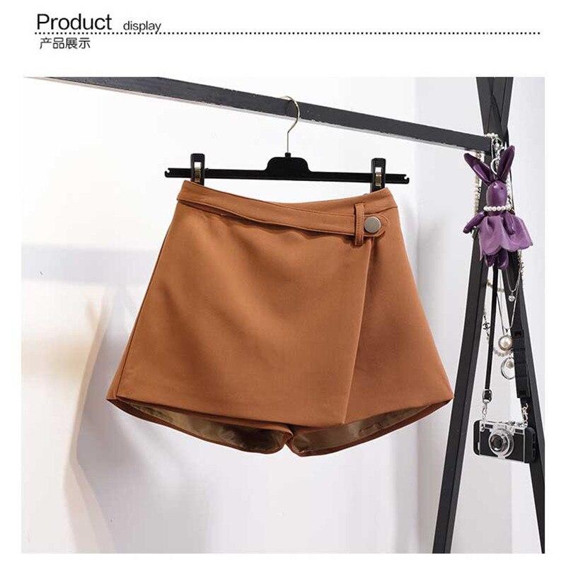 MISSFEBPLUM Лето шорты для женщин для 2018 Высокая талия повседневное нерегулярные широкие брюки короткие тонкий хлопок плюс разме