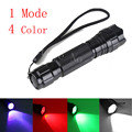 WF-501B Cree XML T6 LED Multi-color Hunting LED Flashlight Torch Green/Blue/Red Light Mini Lanterna 1 Mode Flash Light