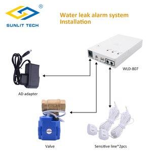 Image 2 - Hause Smart Wasser Leck Detektor mit Auto Abschaltung Ventil Wasser Flut Alarm Überlauf Leckage Sensor Für Home Security Alarm system
