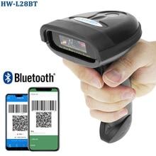 HW-L98 ручной Беспроводной сканера штриховых кодов и HW-L28BT Bluetooth 1D/2D QR штрих-кодов Поддержка Android iOS iPad Windows