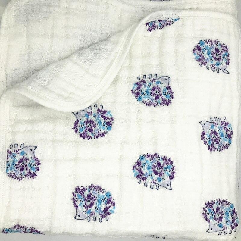 ins4 layerMuslin blanket  baby swaddle Cotton 100% Soft  Baby muslin blanket Swaddle Blanket Functions Baby Wrap baby bath towel