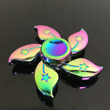 Buy lotus flower toy and get free shipping on aliexpress edc fidget spinner hand six lotus flower weight toys rainbow color metal gryo new style spinner mightylinksfo
