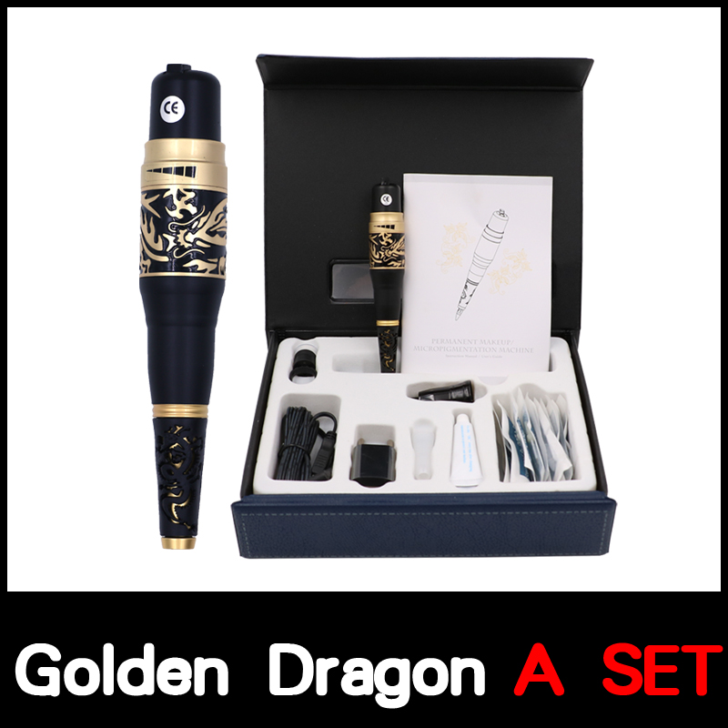 Professional Permanent Makeup Golden Dragon tattoo Machine kits Taiwan Original Permanent Makeup Machine with tattoo needleProfessional Permanent Makeup Golden Dragon tattoo Machine kits Taiwan Original Permanent Makeup Machine with tattoo needle