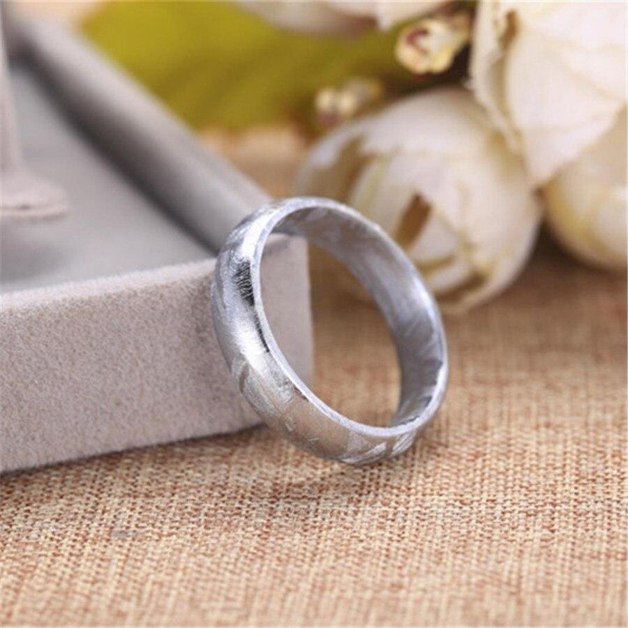 Véritable naturel Gibeon fer météorite Moldavite anneau pour femme dame homme argent couverture pierre taille américaine 7 8 9 10 AAAAA livraison directe