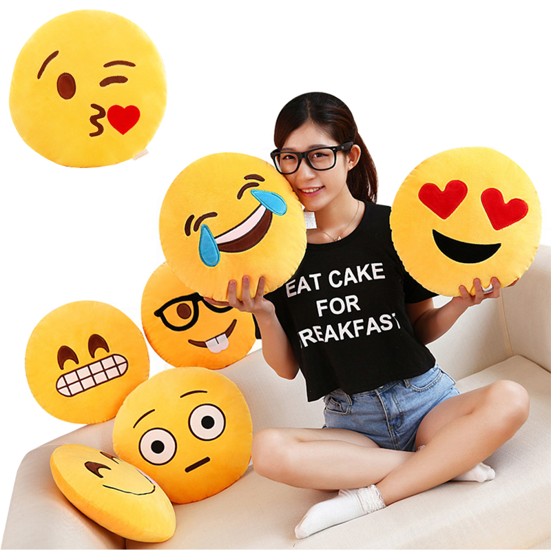 35x35 cm emoji pillow decorative pillows <font><b>cushion</b></font> smiley face pillow <font><b>Home</b></font> Decor Sofa Throw Pillow coussin christmas gifts for wom