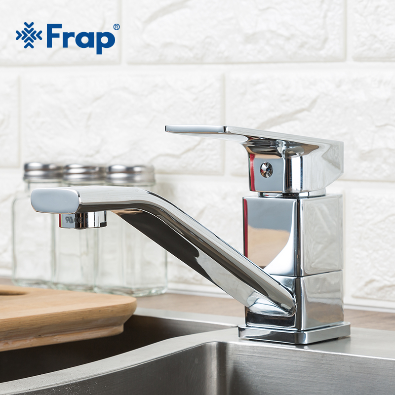 FRAP Modern Style Home Multi color Kitchen Sink Faucet Cold and Hot Water Tap mixer Single