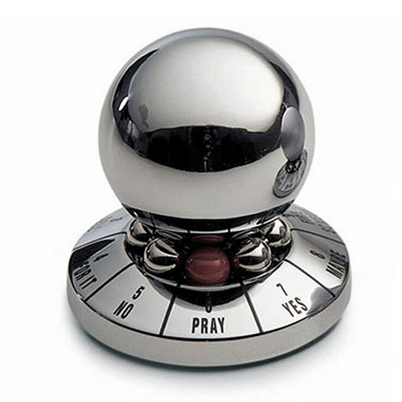 1PCS Metal Fate Prediction Ball Novelty Gag Toys Trick Practical Joke Gift For Adults Children Fun Games Model Antistress Toys