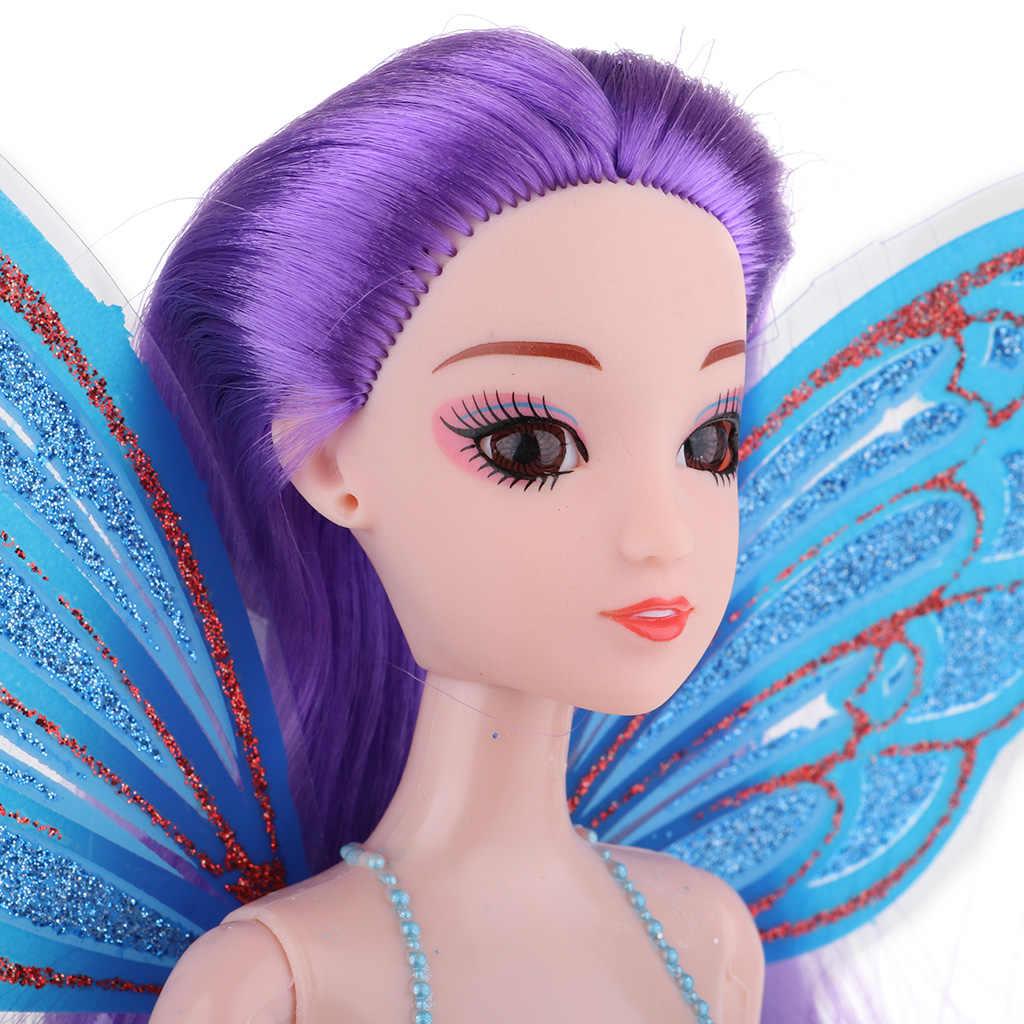 30 cm princesa sirena muñeca niños jugar casa juguete moderna chica con pelo largo y grueso pastel Topper fotografía Accesorios