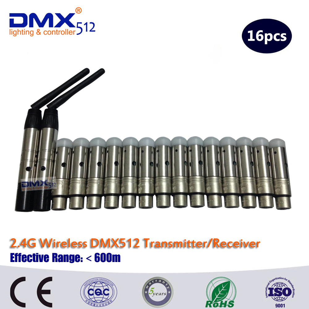 DHL Free Shipping  2.4G wireless dmx512 transmitter and mini receptor dhl free shipping arming