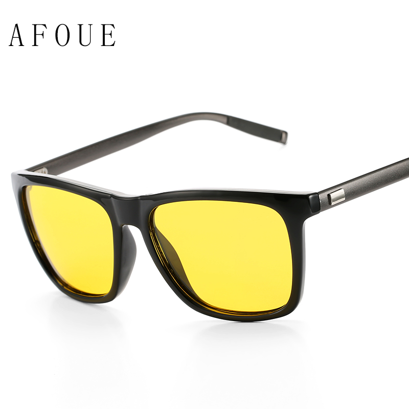 AFOUE Day Night Vision Goggles Driver Polarized Sunglasses For Men's Car Driving Glasses Vintage Outdoors Male Eyeglasses