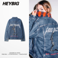 Rock N Rap Fashion Men Denim Jackets Youth Punk Jeans Coat HEYBIG hip hop Streetwear Retrol metal Music Clothing Asian Size