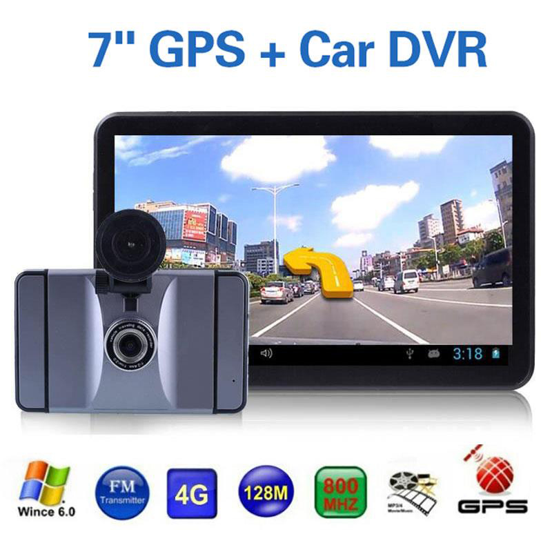Vehemo Android Car GPS Navigation Multi-Maps 7 Inch 8GB FM Bluetooth Wifi Video with 1080P Car DVR Camera Dash Cam Recorder 7 inch 2 din bluetooth car stereo multimedia mp5 player gps navigation fm radio auto rear view camera steering wheel control