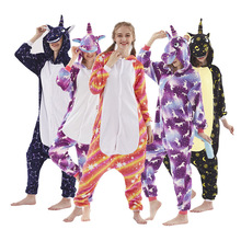 2019 New winter christmas cosplay costume party pajamas unicorn onesie Fannel adults women couples fashion unicons thick animals