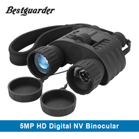 4x50 Digital Night Vision Binocular With 850nm Infrared Illuminator 300m Range Takes 5mp Photo 720p Video