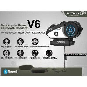 Image 2 - Inglese Versione del Casco Auricolare Bluetooth Moto Vimoto V6 Multi funzionale Cuffie Stereo Per Il Telefono Cellulare e GPS Radio