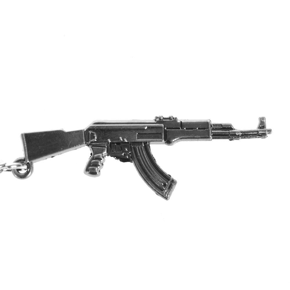 Alrededor Del Juego Alrededor De La Línea De Fuego Ak47 Arma Pistola Rifle De Asalto Arma De Francotirador Cf Mini Pistola Coche Clave Colgante Anillo
